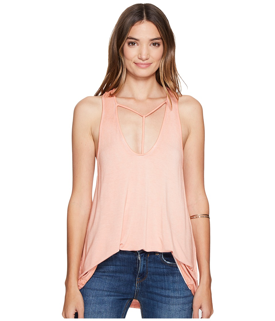Free People - Amelia Tank Top (Peach) Women's Sleeveless
