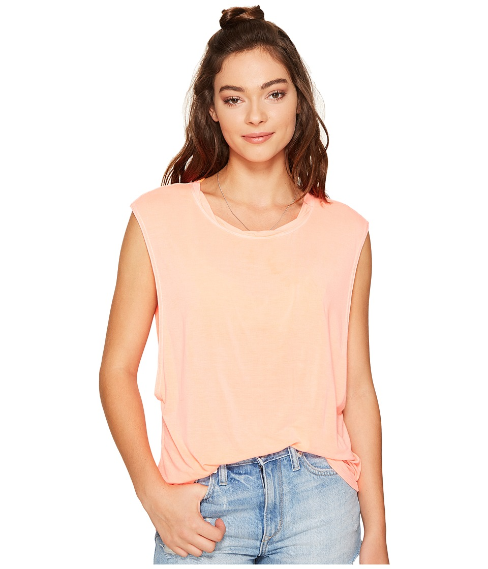 Free People - The It Muscle Tee (Tangerine) Women's Sleeveless