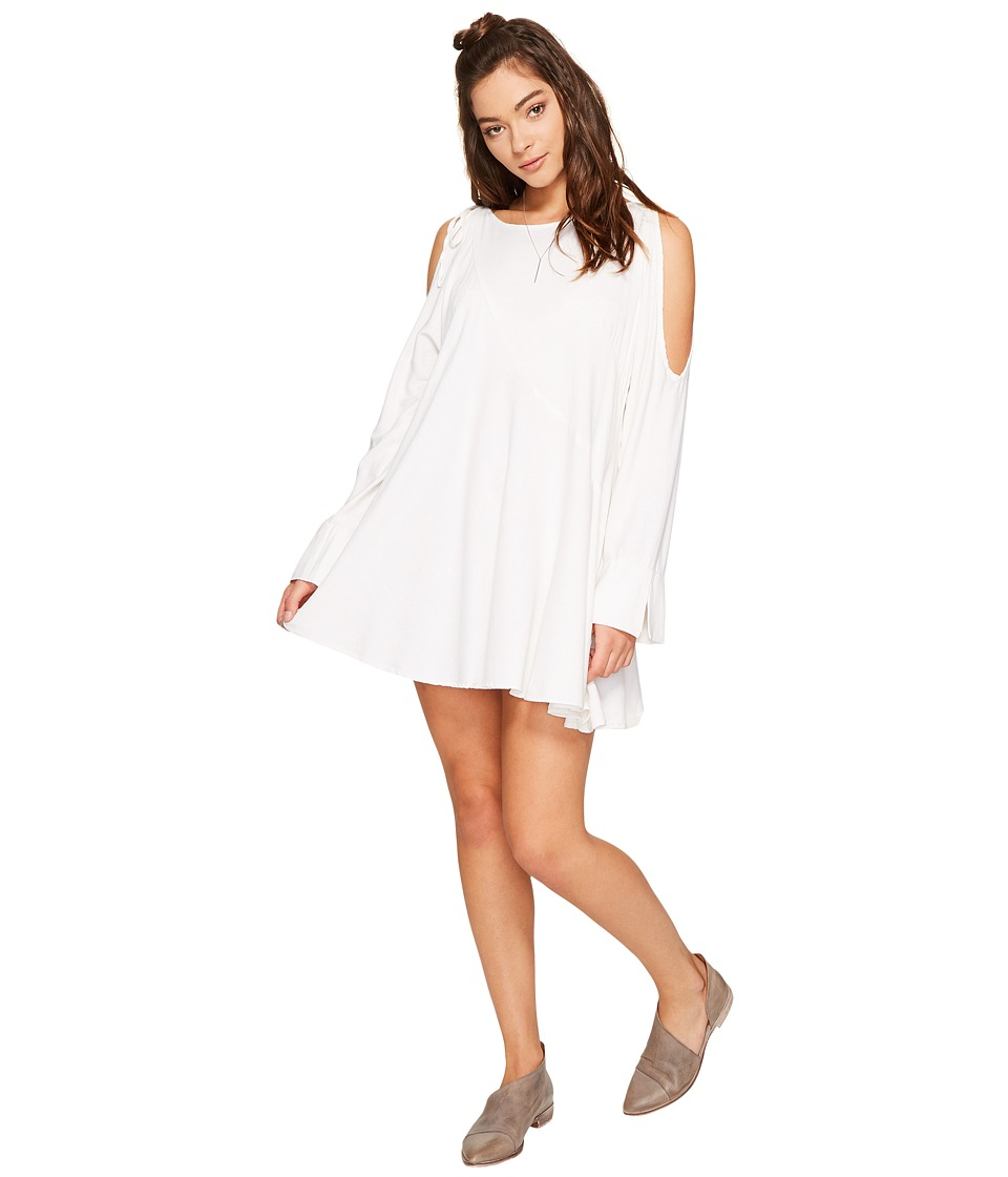 Free People - Clear Skies Solid Tunic (White) Women's Clothing