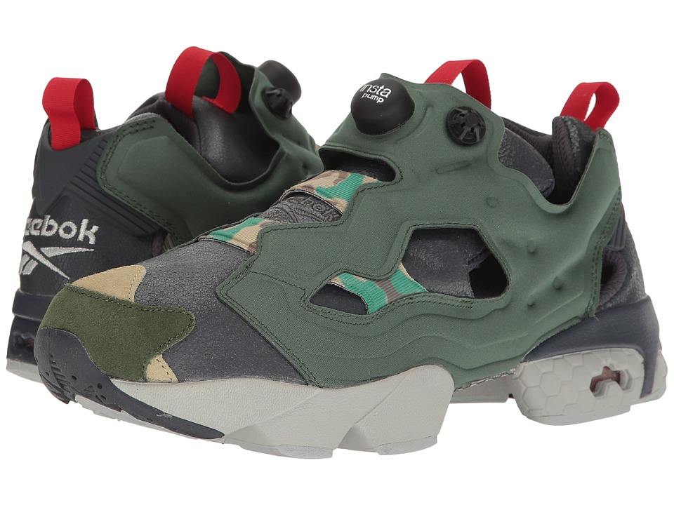 Reebok - Instapump Fury Og Vp (Black/Prime Green/Baseball Grey) Men's Shoes