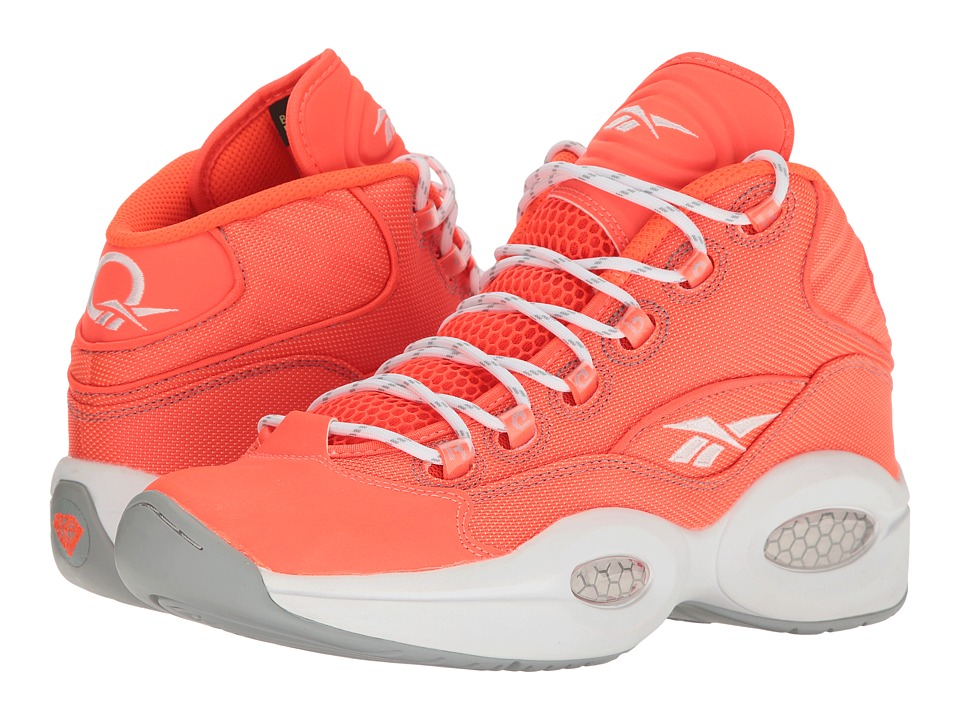 Reebok Question Mid Otss (Atomic Red/Baseball Grey) Men