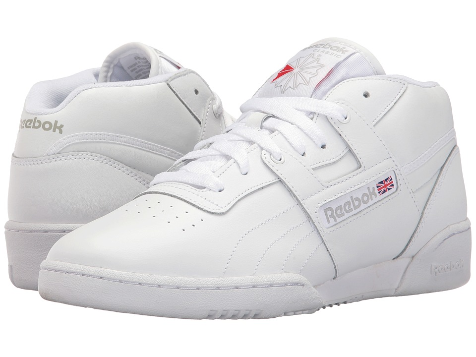 Reebok - Workout Mid (US-White/White/Warm Grey) Men's Shoes
