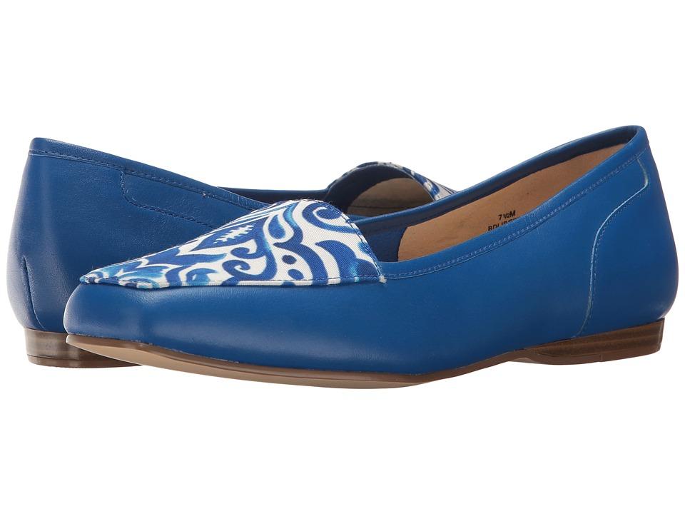 Bandolino - Liberty (Azure Leather/Fabric) Women's Slip on Shoes