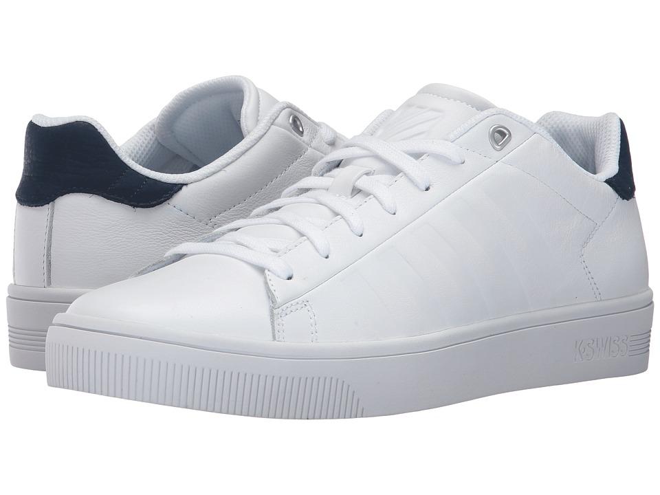 K-Swiss - Court Frasco (White/Dress Blues) Men's Tennis Shoes