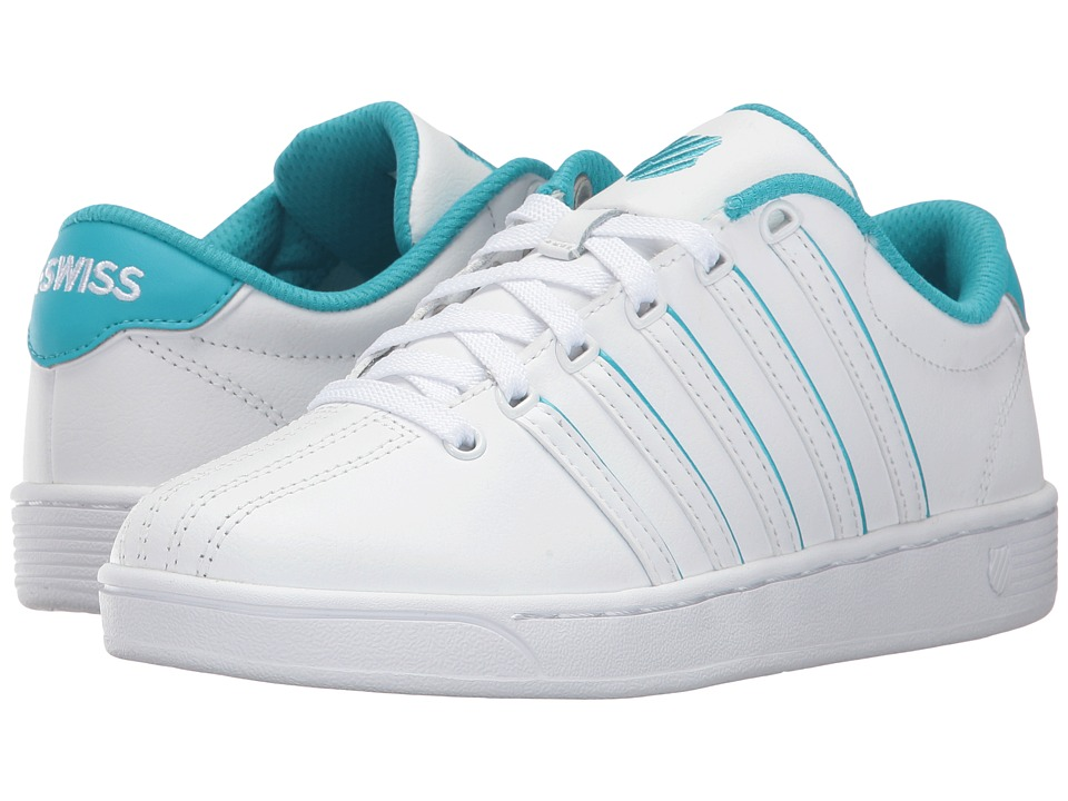 K-Swiss - Court Pro II SP CMF (White/Peacock Blue) Women's Lace up casual Shoes