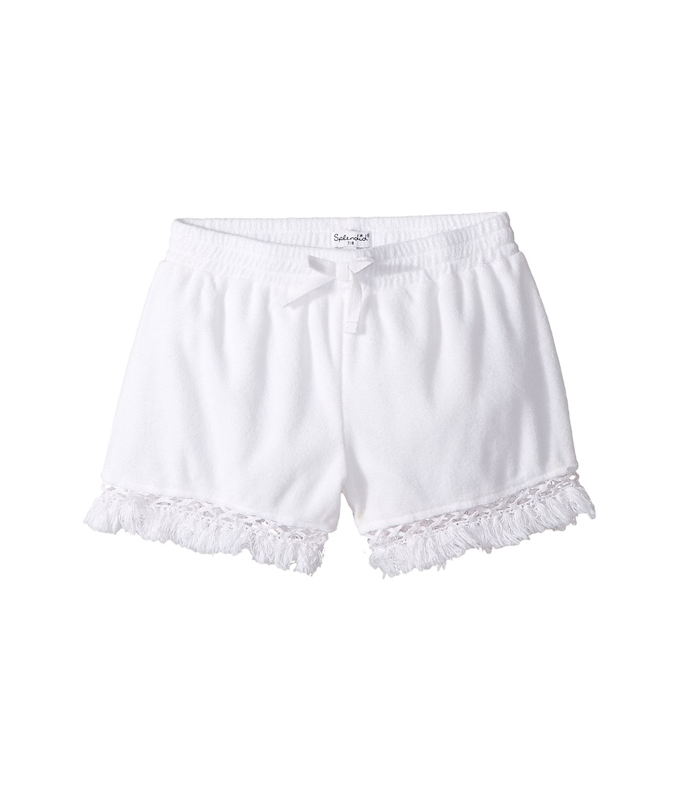 Splendid Littles - Terry Shorts with Fringe (Big Kids) (White) Girl's Shorts