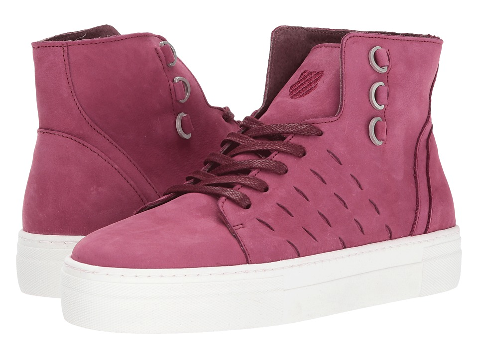 K-Swiss Modern High P (Beaujolais/Off-White) Women