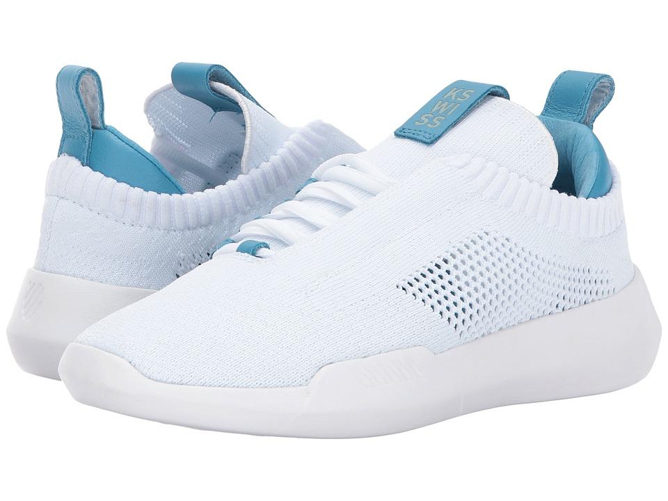 K-Swiss - Gen-K Icon Knit (White/Blue Moon) Women's Tennis Shoes