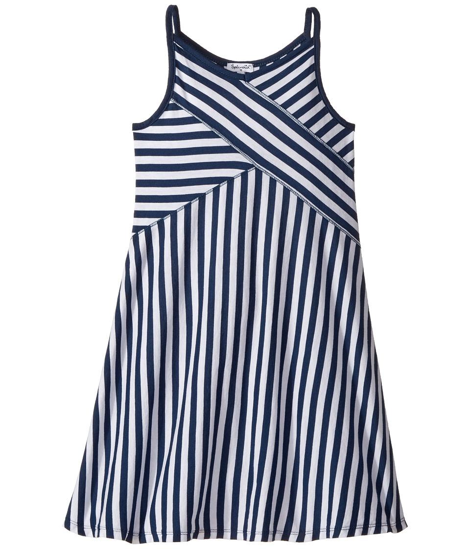 Splendid Littles - Always Striped Dress (Big Kids) (Navy) Girl's Dress