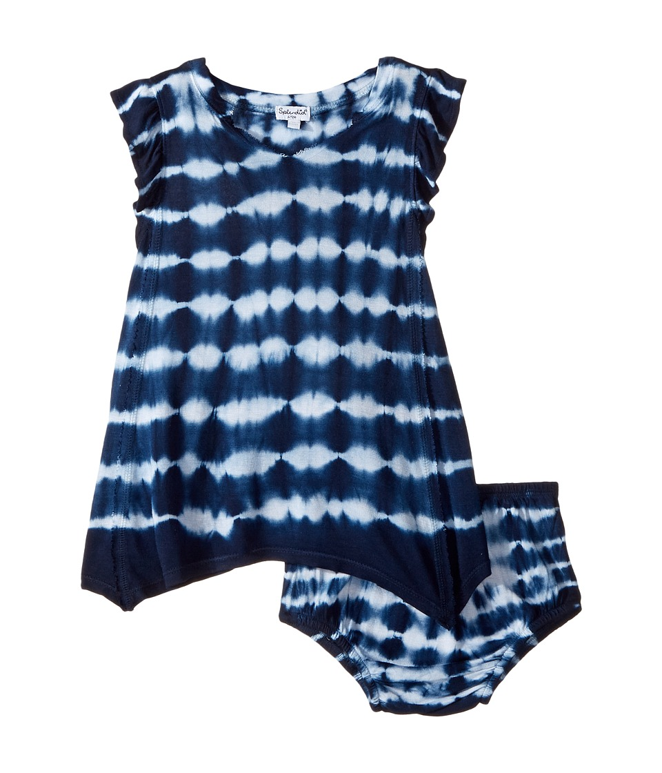 Splendid Littles - Tie-Dye Crinkle Jersey Dress (Infant) (Navy) Girl's Dress