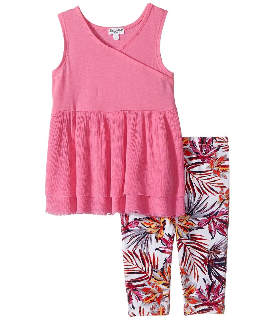 Splendid Littles - All Over Print Leggings Set (Infant) (Hot Pink) Girl's Active Sets