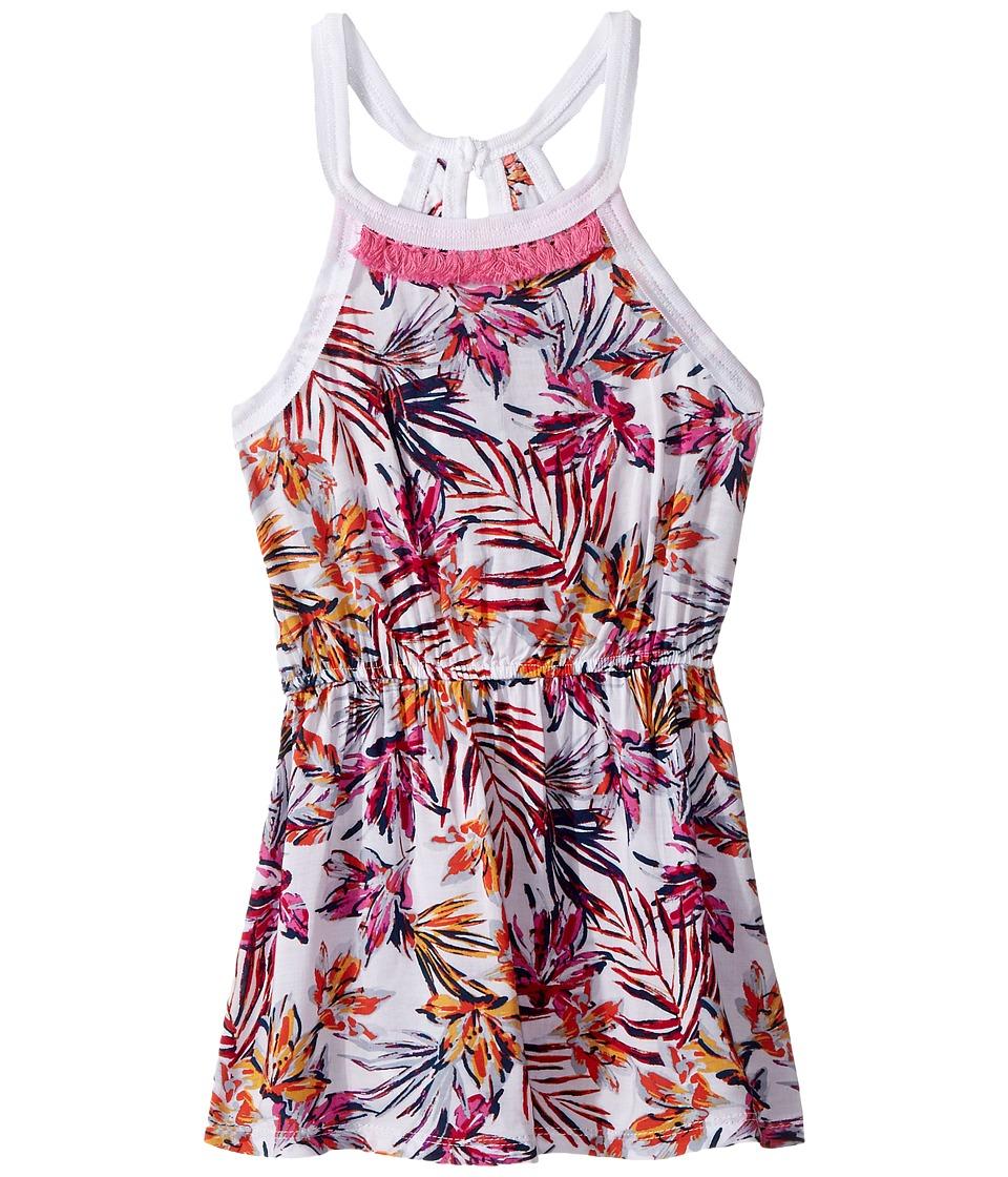 Splendid Littles - All Over Print Fringe Trim Dress (Little Kids) (Hot Pink) Girl's Dress