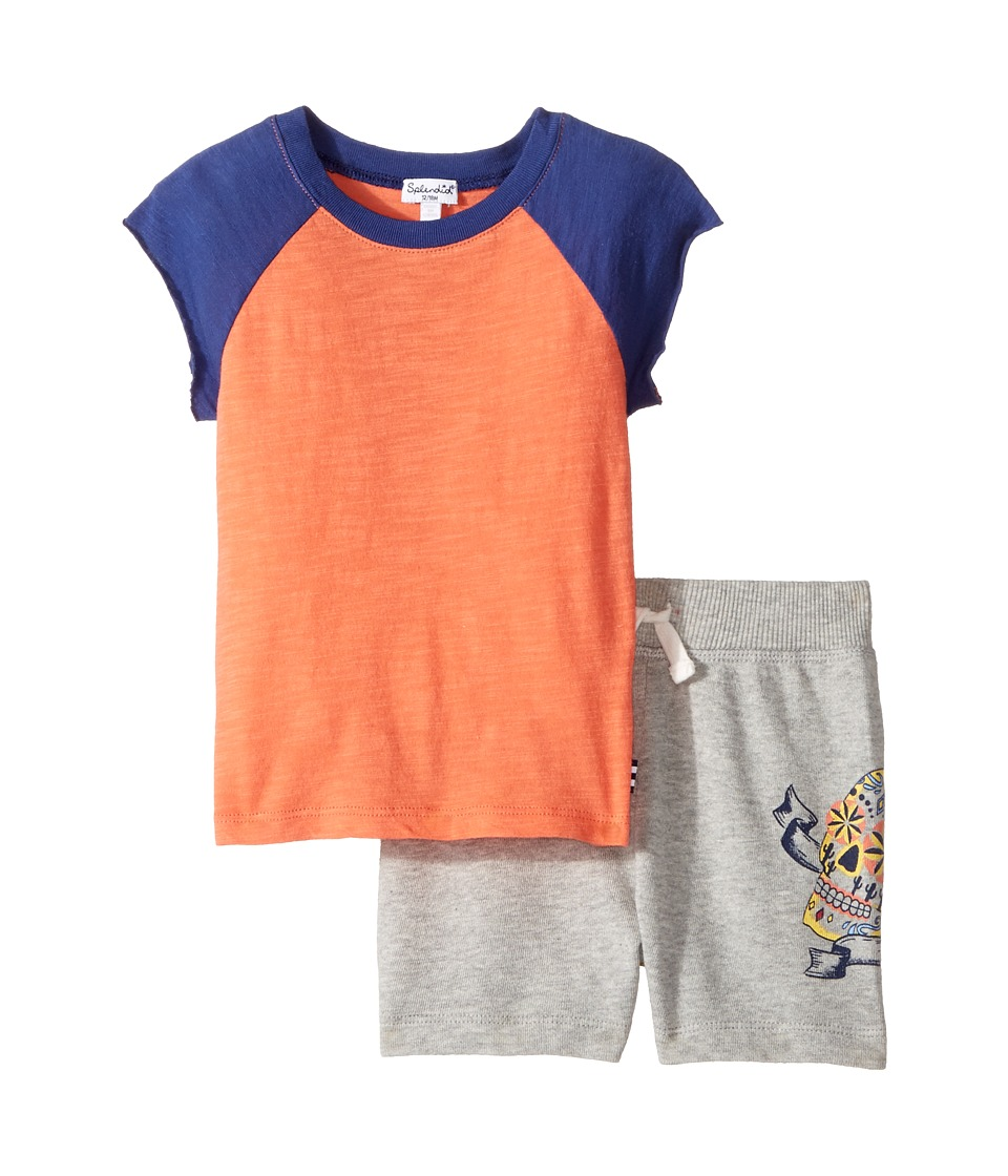 Splendid Littles - Screened Short Set (Infant) (Orange) Boy's Active Sets