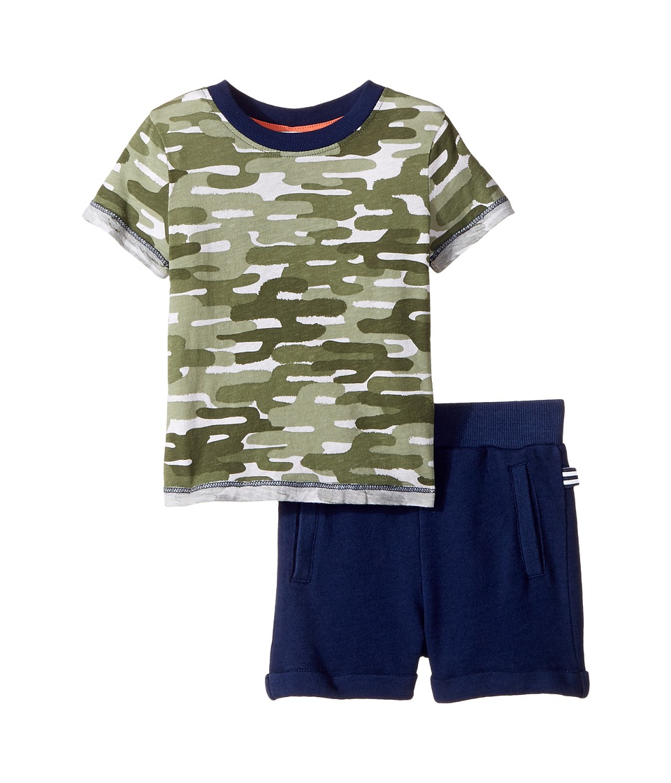 Splendid Littles - Cactus Camo Tee Set (Infant) (Camo) Boy's Active Sets