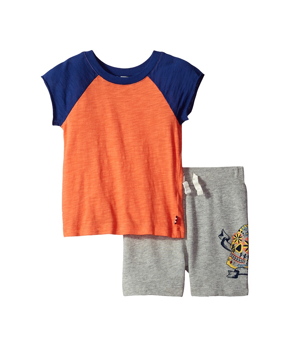 Splendid Littles - Screened Short Set (Toddler) (Orange) Boy's Active Sets