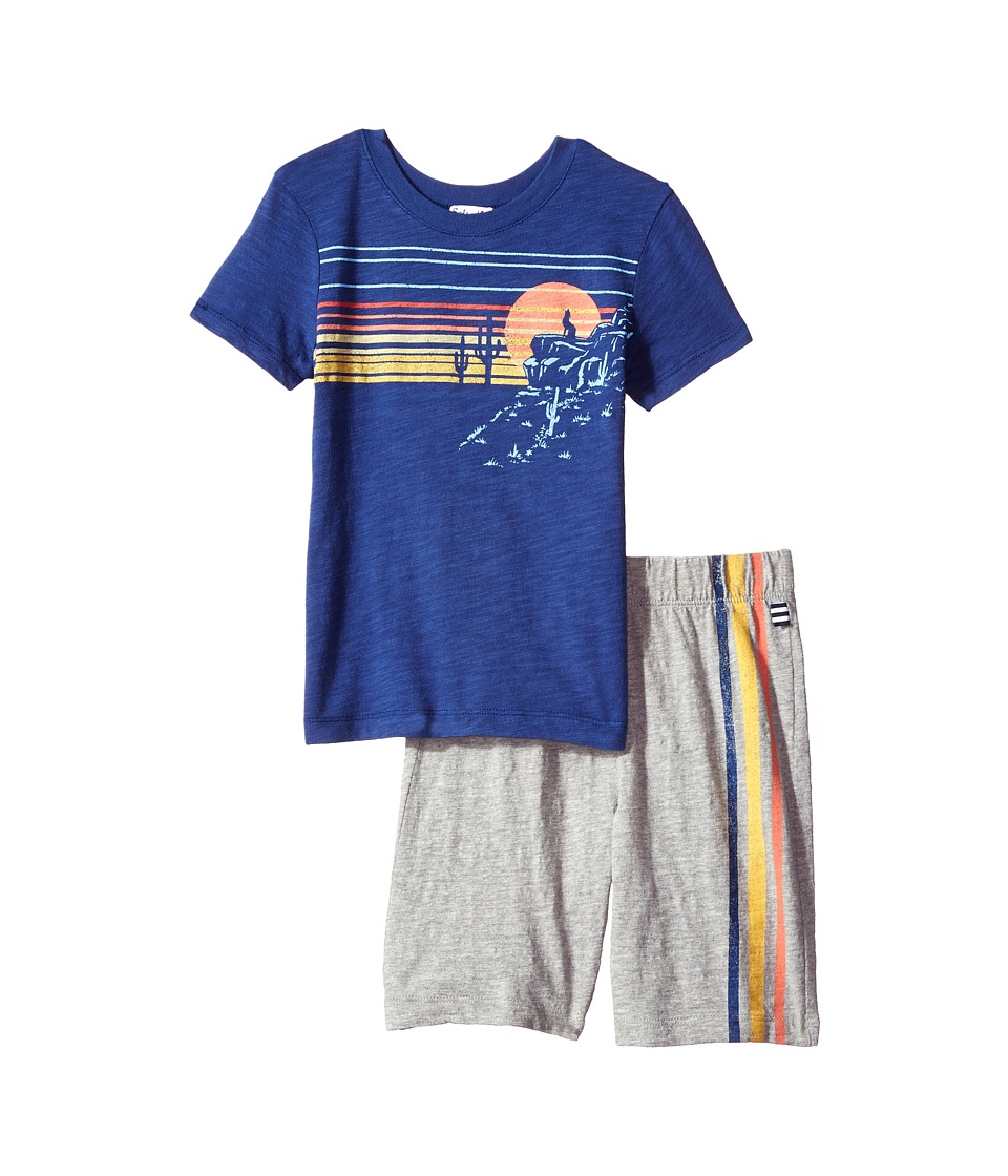Splendid Littles - Screen Tee Shorts Set (Little Kids/Big Kids) (Royal Blue) Boy's Active Sets