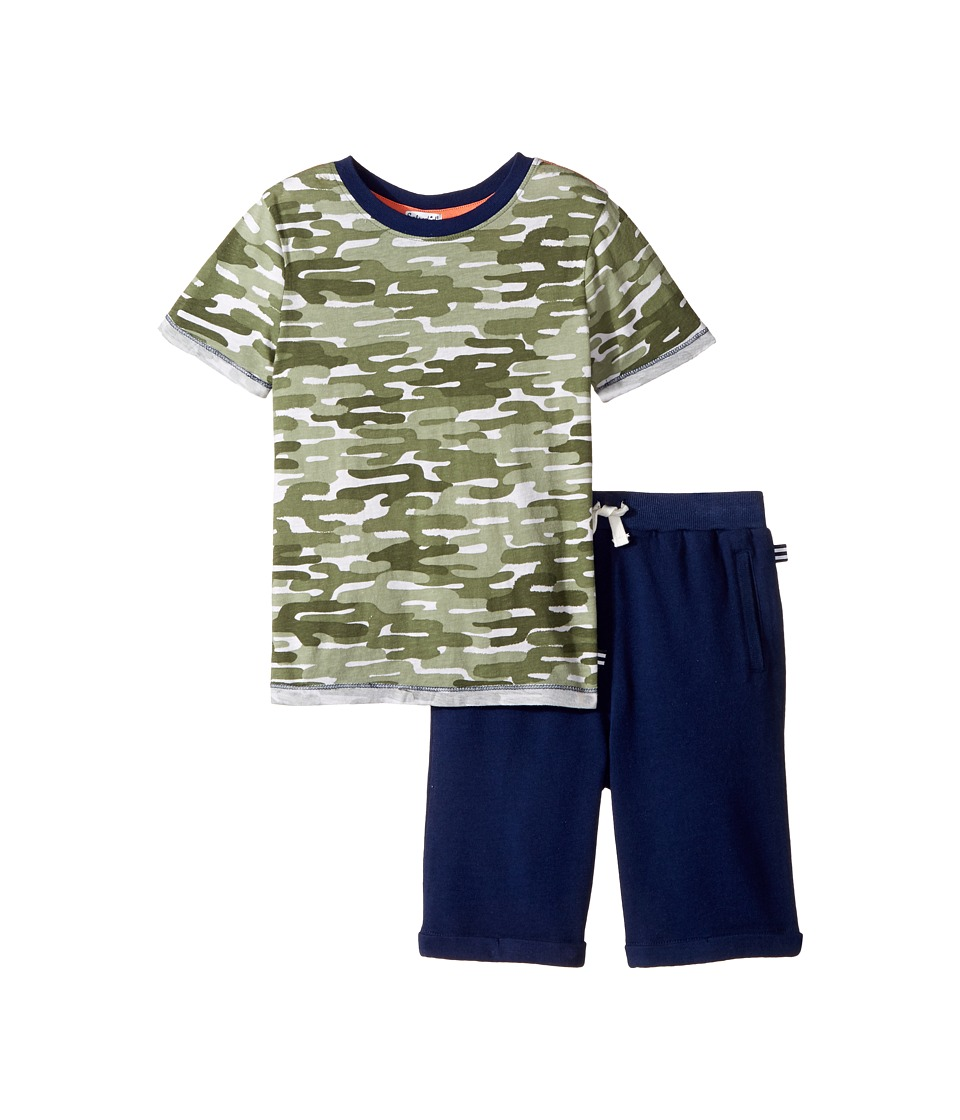 Splendid Littles - Cactus Camo Tee Set (Little Kids/Big Kids) (Camo) Boy's Active Sets
