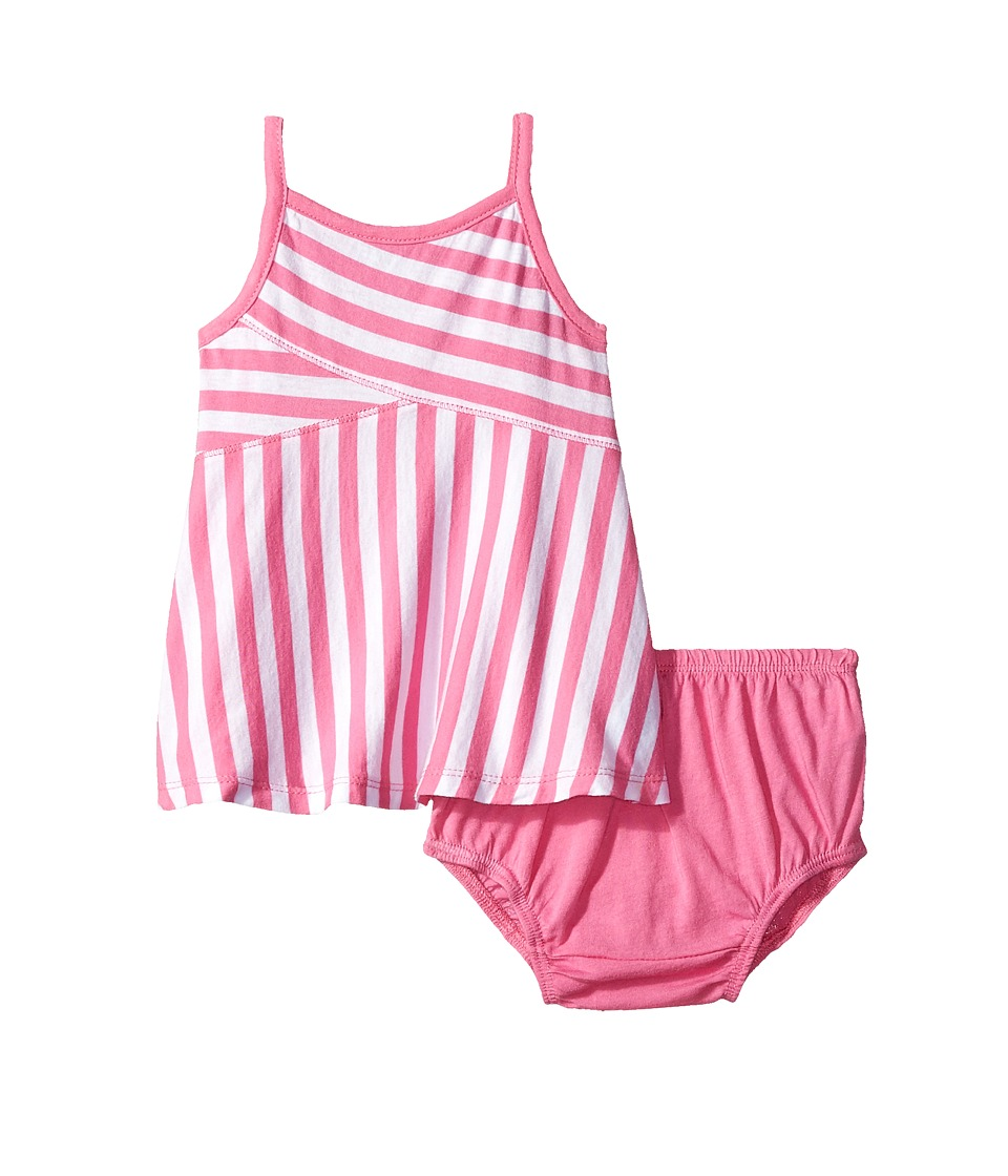 Splendid Littles - Always Striped Dress (Infant) (Hot Pink) Girl's Dress