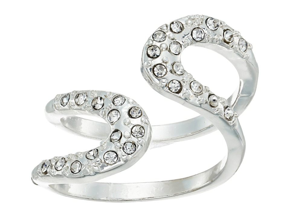 GUESS - Pave Loop Wrap Ring (Silver/Crystal) Ring