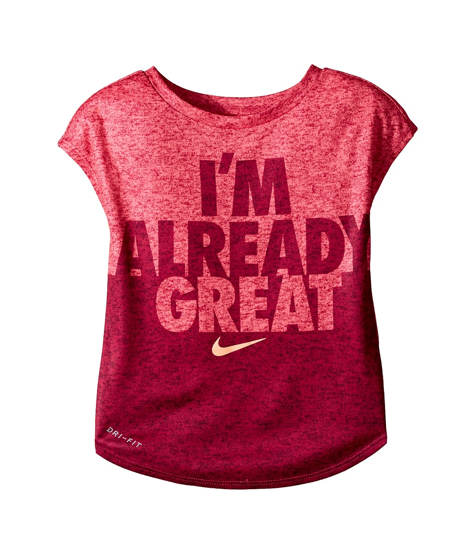 Nike Kids - Heather Already Great Short Sleeve Tee (Toddler) (Racer Pink) Girl's T Shirt