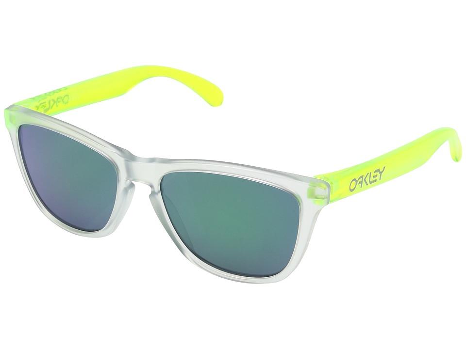 Oakley - Frogskins (Matte Clear/Matte Transparent Jade w/ Jade Iridium) Sport Sunglasses
