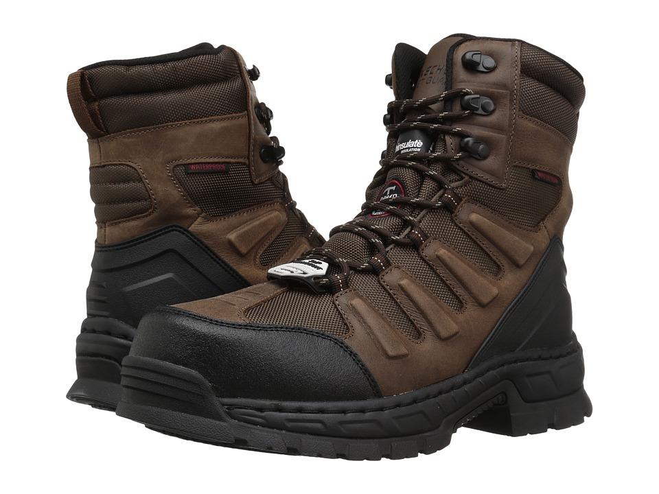 SKECHERS Work Vinten Lanham (Brown Crazy Horse Leather/Pitstop Nylon) Men