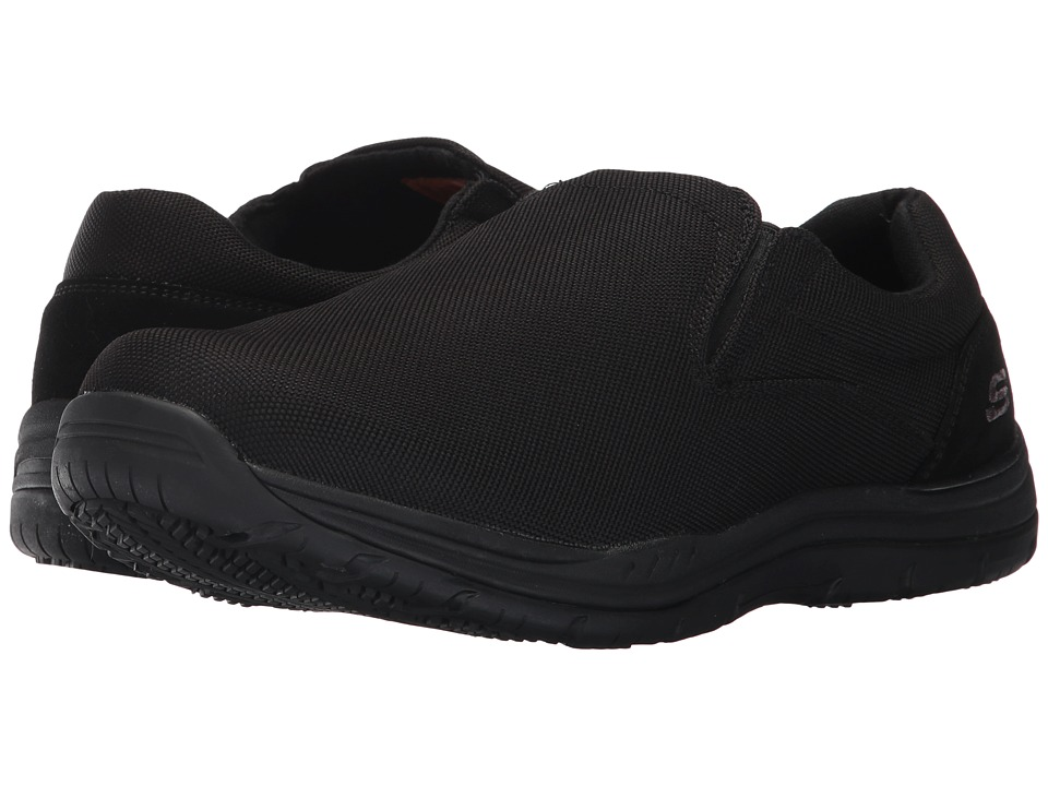 SKECHERS Work - Otsego (Black Mesh) Men's Shoes