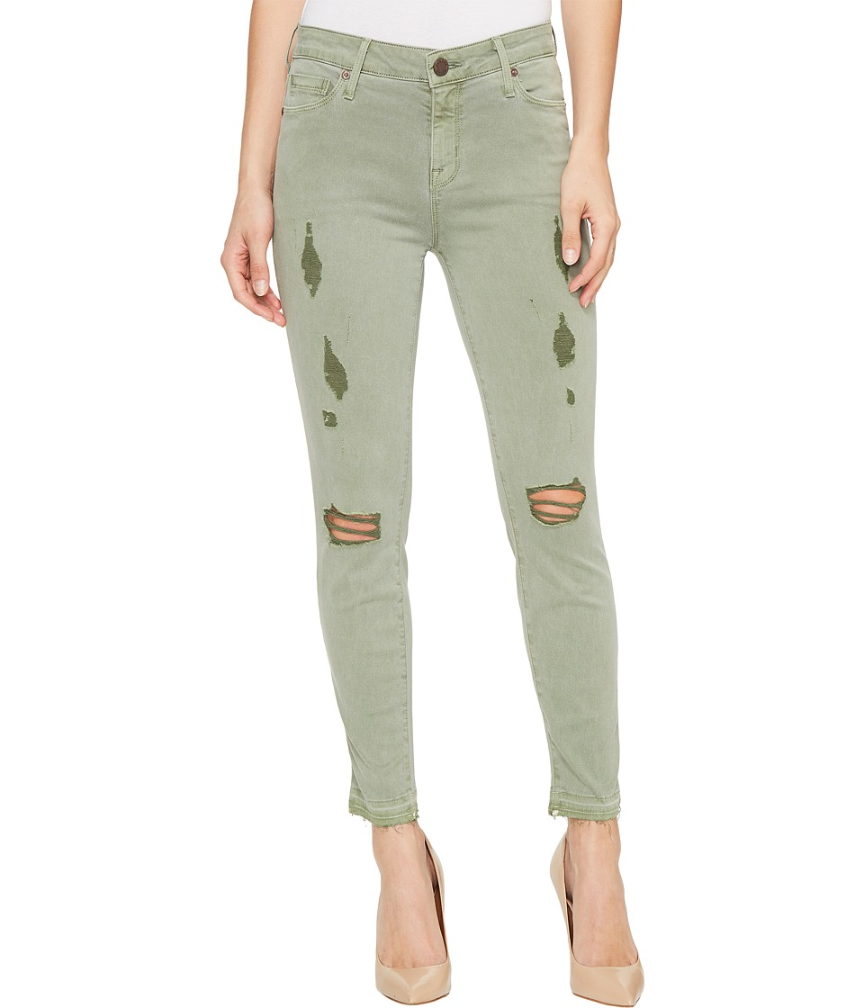 Parker Smith - Ava Crop Skinny in Torn Cactus (Torn Cactus) Women's Jeans