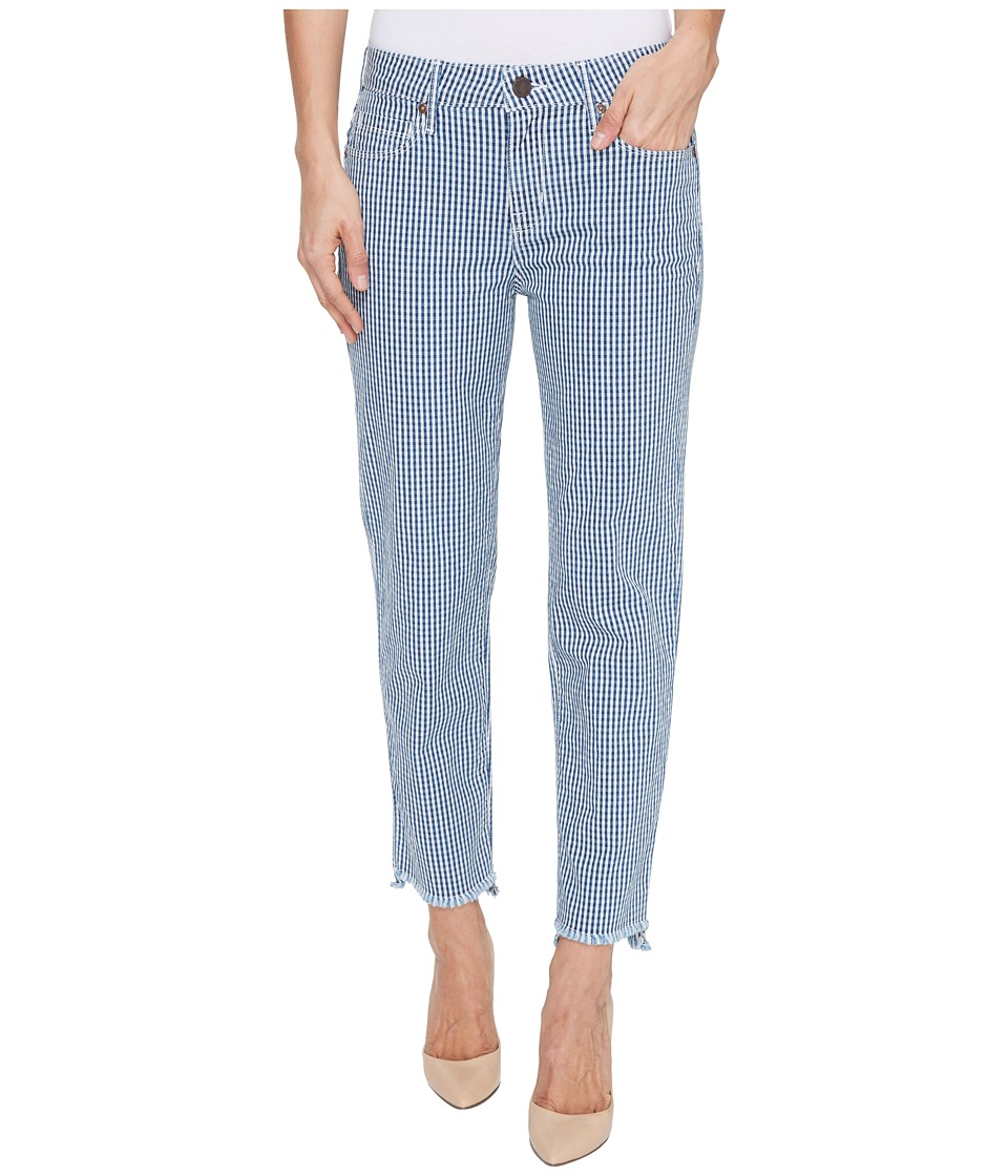 Parker Smith - Shark Bite Straight Crop in Checked (Checked) Women's Jeans