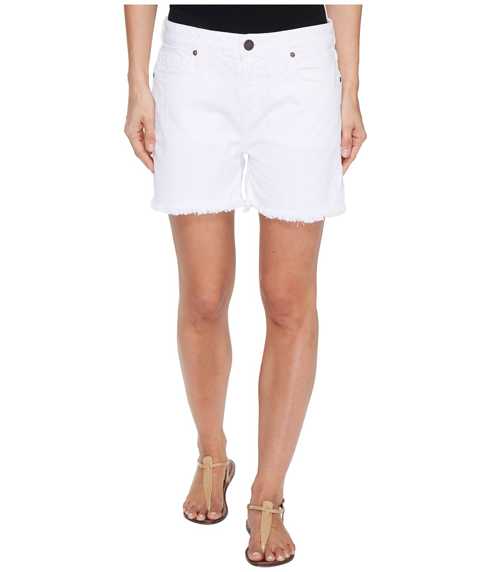 Parker Smith - High-Rise Fray Shorts in Blanc (Blanc) Women's Shorts