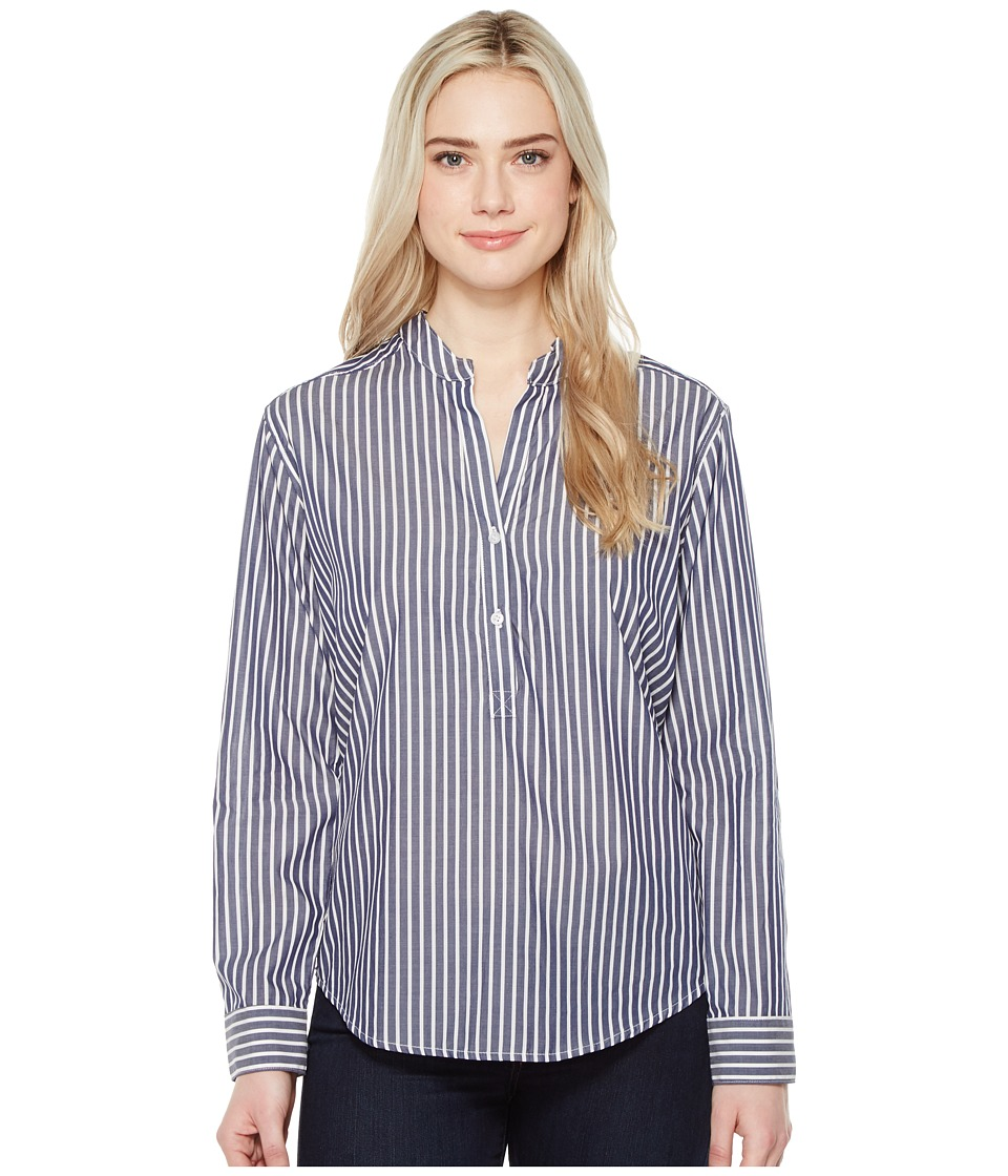 Parker Smith - Bell Sleeve Shirt (Navy Stripe) Women's Clothing