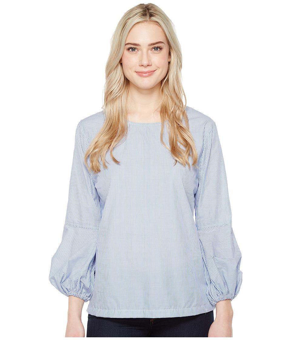 Parker Smith Drew Bubble Sleeve Shirt (Postal Stripe) Women