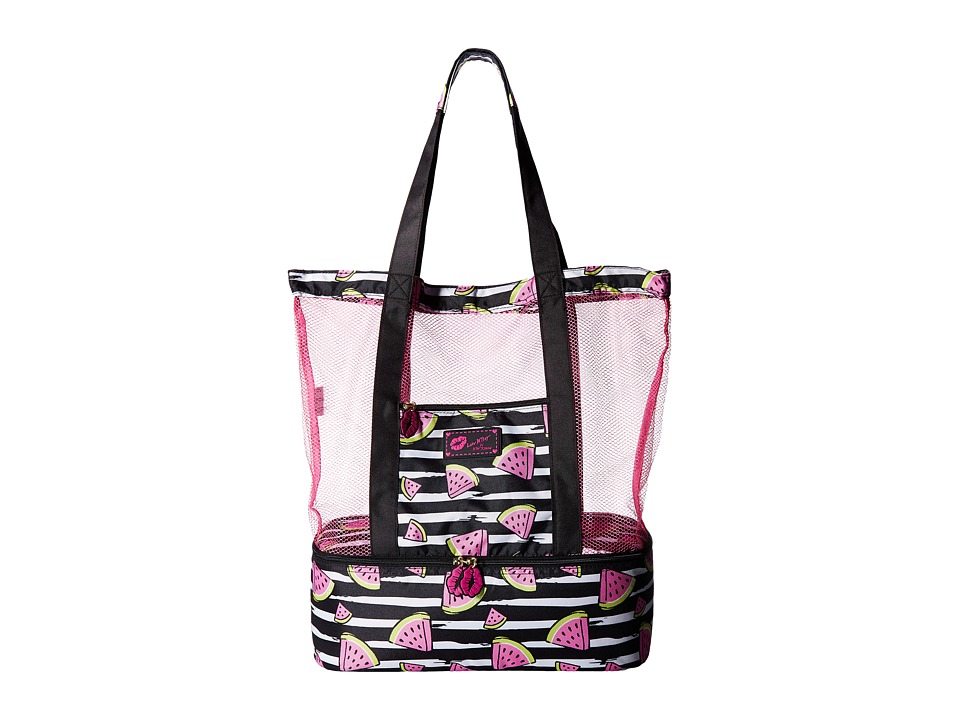 Luv Betsey - Watermelon Mesh Cooler Tote (Black) Tote Handbags