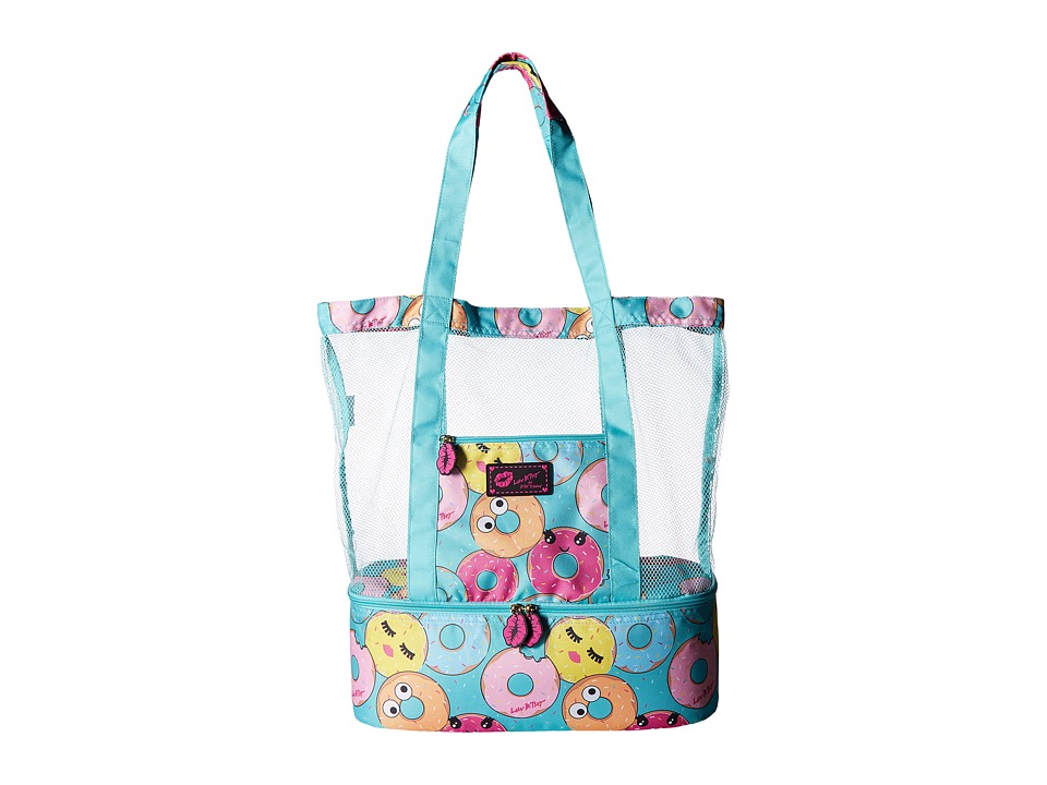Luv Betsey - Donut Mesh Cooler Tote (Blue) Tote Handbags