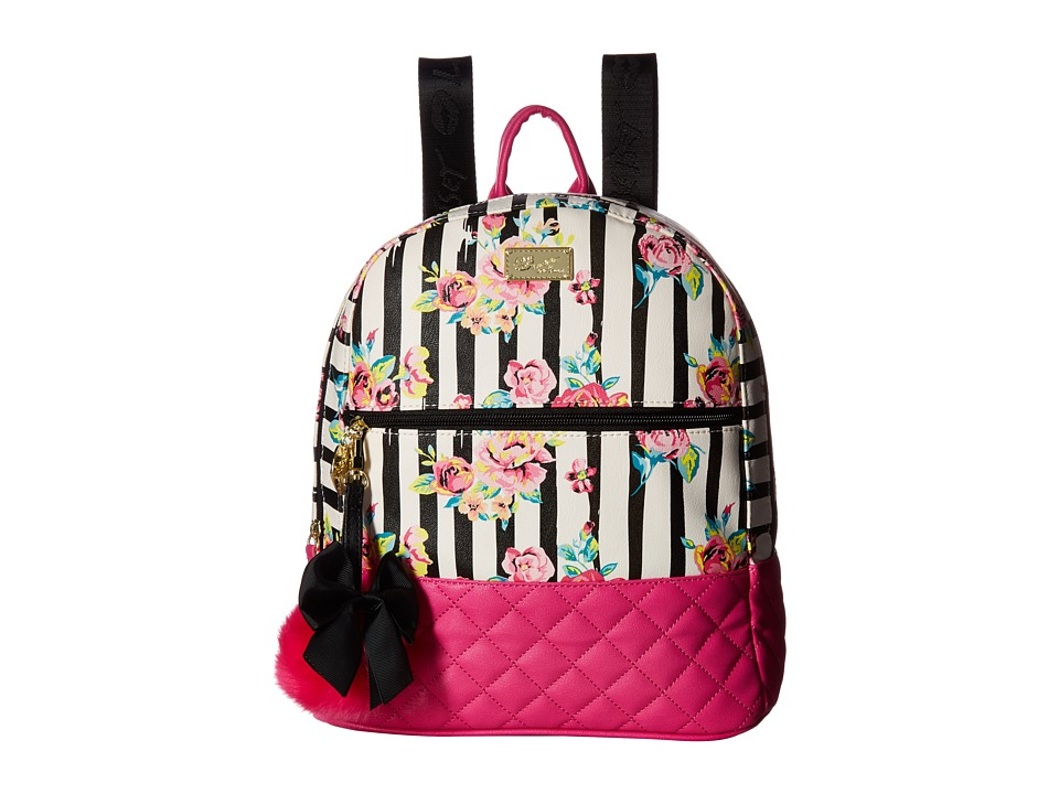 Luv Betsey - Dart PVC Quilted Backpack (Rose) Backpack Bags