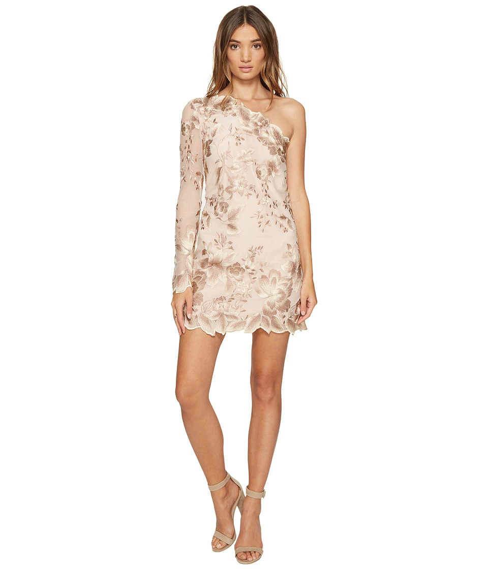 Free People - Rosalie Embroidered Mini Dress (Nude) Women's Dress