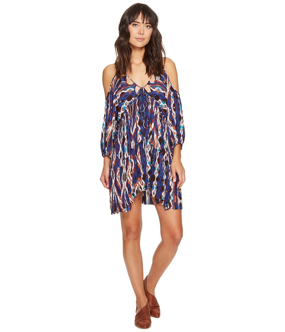 Free People - Monarch Mini Dress (Blue) Women's Dress