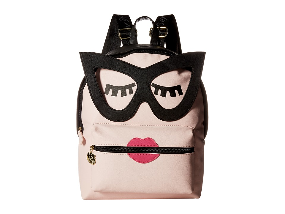 Luv Betsey - Smarty Kitch PVC Backpack (Blush) Backpack Bags