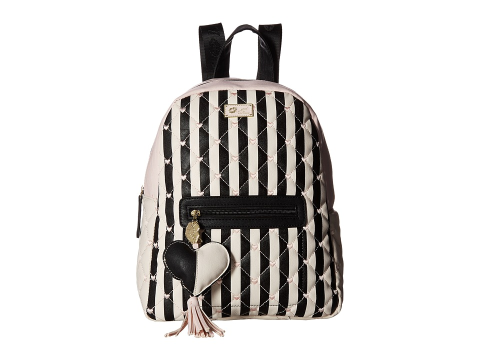 Luv Betsey - Demi PVC Backpack (Black/Blush) Backpack Bags