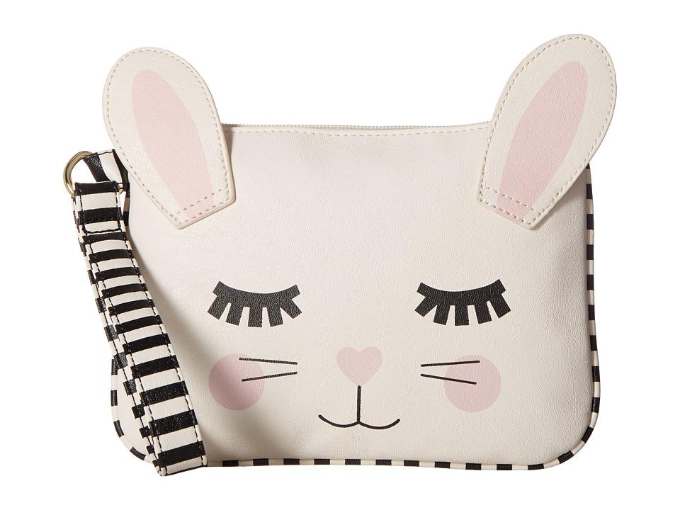 Luv Betsey - Roger Kitch PVC Pouch (White) Wristlet Handbags