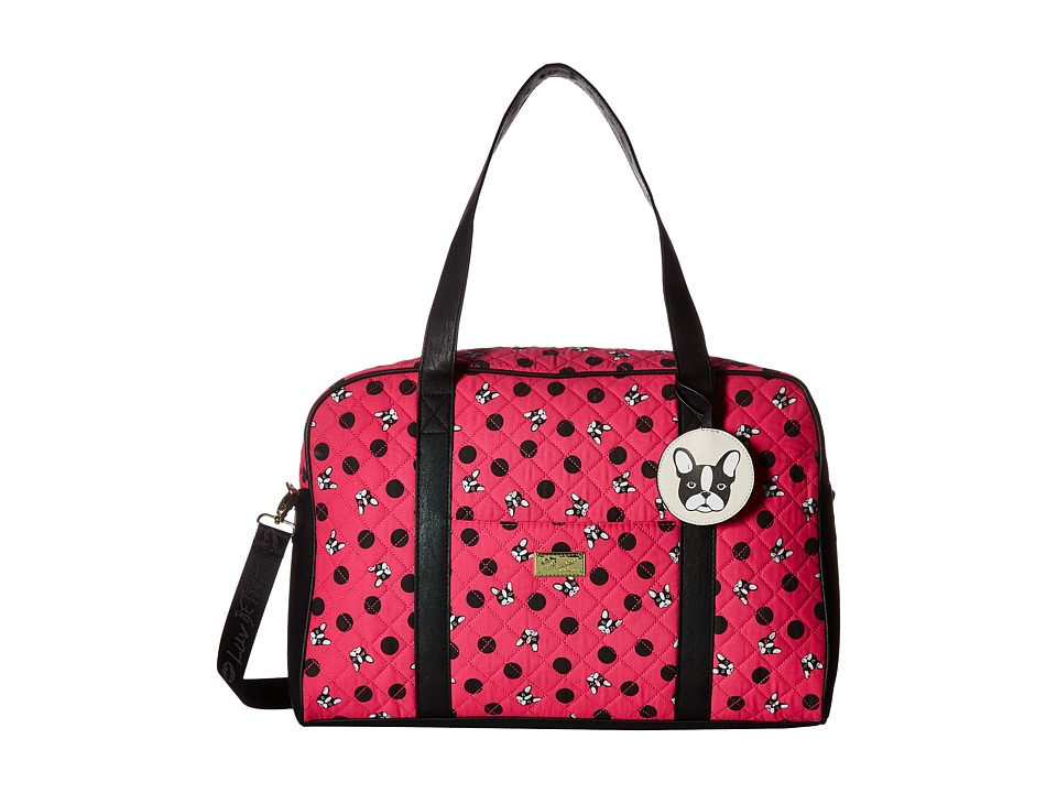 Luv Betsey - Cruisn Quilted Weekender (Fuchsia) Weekender/Overnight Luggage