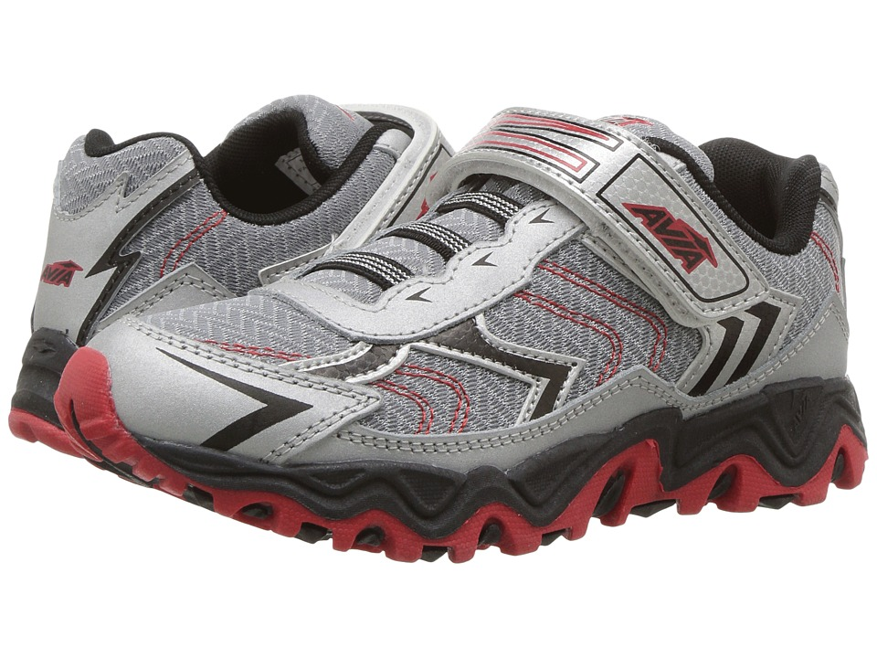 Avia Kids - Avi-Force (Toddler/Little Kid/Big Kid) (Chrome Silver/Black/Classic Red) Boy's Shoes