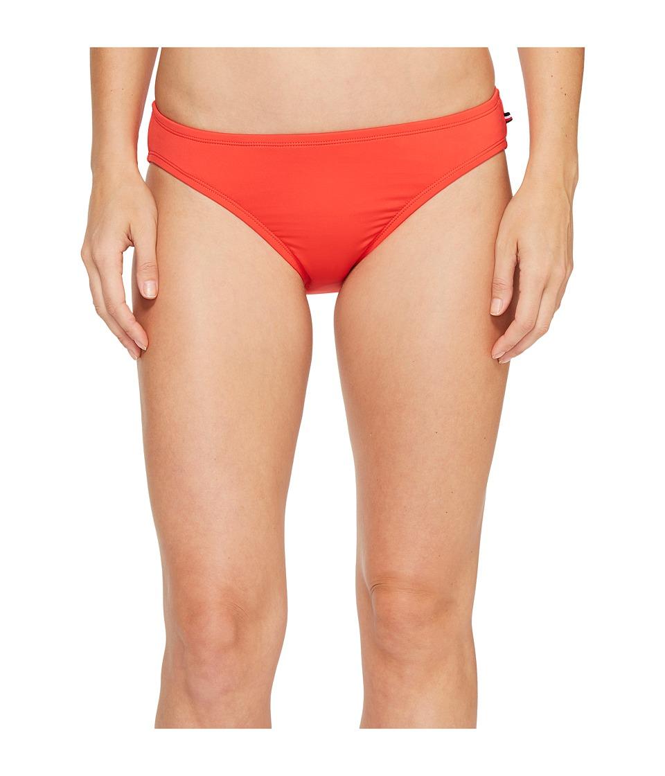 Tommy Hilfiger - New England Classic Bikini Bottom (Fiery Red) Women's Swimwear