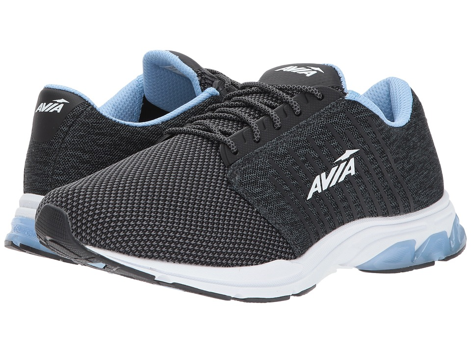 Avia - Avi-Zeal (Black/Iron Grey/Powder Blue) Women's Shoes