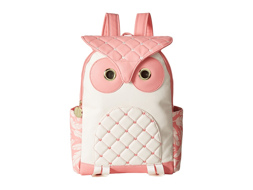 Luv Betsey - Hoot Backpack (Coral/White) Backpack Bags