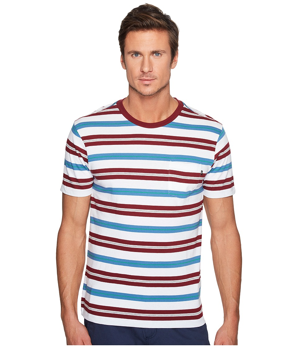 Obey - Newton Pocket Tee (Burgundy/Multi) Men's T Shirt