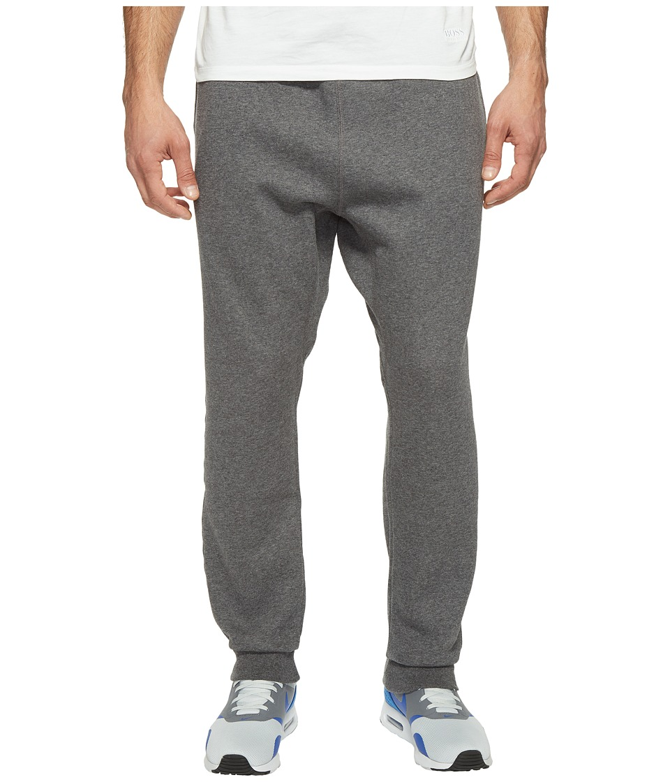 Nike - Club Fleece Taper Cuff Pant (Charcoal Heather/White) Men's Workout