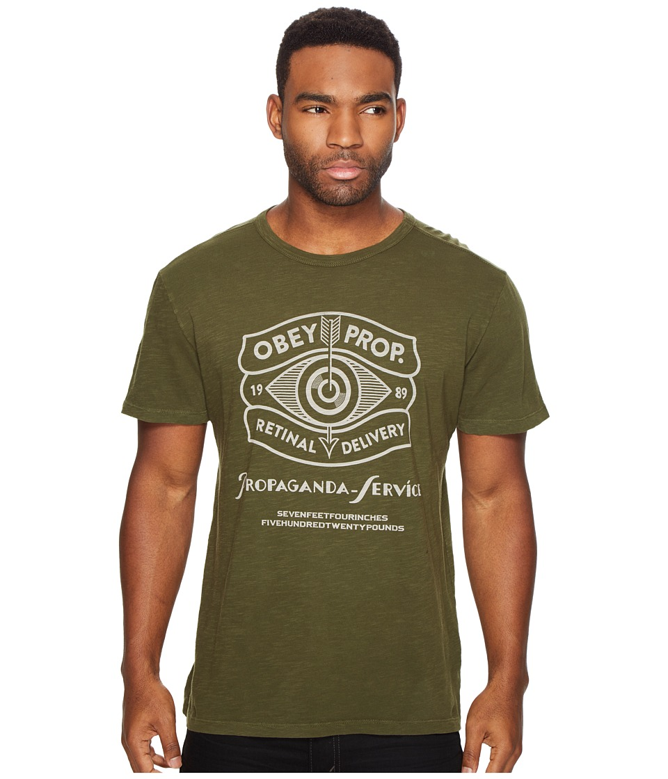 Obey - Retinal Delivery Tee (Army) Men's T Shirt
