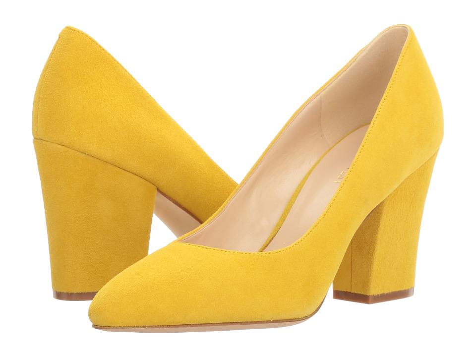 Nine West - Scheila (Yellow Suede) High Heels