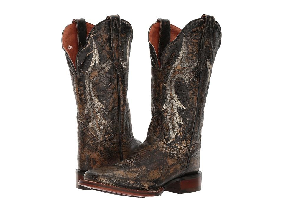Dan Post Reign (Black Distressed) Cowboy Boots